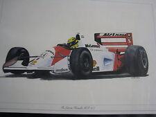 Litho in Alu frame McLaren Honda MP4/7 1992 #1 Ayrton Senna Eric-Jan Kremer