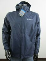 NWT Mens Columbia S-M-L-XL Timber Pointe II Waterproof Hooded Rain Jacket - Navy