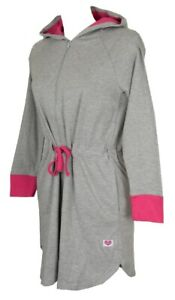 RAGNO Vestaglia donna corta manica lunga con zip e cappuccio CUORE & BATTICUORE