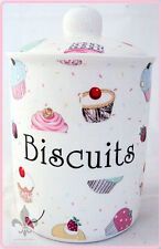 Fairy Cupcakes Biscuits Canister Bone China Cupcakes Storage Jar Hand Decor UK