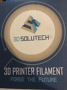 3D Solutech printer filament white