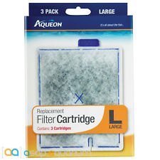 Aqueon QuietFlow Replacement Filter Cartridge Large 3pk Fast Free USA Shipping