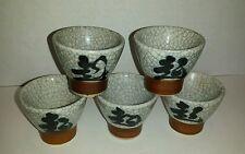 SET of 5 CERAMIC TEA or SAKE / SAKI SMALL BOWL CUPS