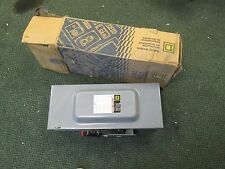 Square D Non-Fusible Safety Switch HU363 100A 600V 3P New Surplus
