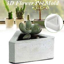 Cement Flowerpot Silicone Mold Triangle Concrete Pot Mould For Succulent Plants