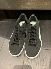 womens puma trainers in black canvas size 5