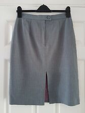 Principles ladies grey skirt, 28 inch waist, 23 inches long, front split, 12