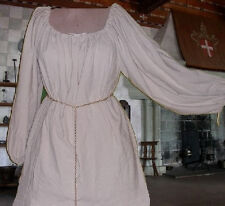 Sca Garb Blouse Chemise Renaissance Costume Medieval White Ivory Muslin L Xl