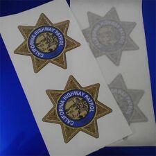 "(2) 3"" CHP ""CHiPS"" 1955-1998 CALIFORNIA HIGHWAY PATROL Star Decal Sticker"