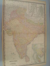 RARE 1888 ANTIQUE MAP OF BRITISH INDIA