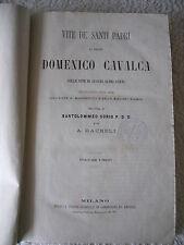 """LIBRO ANTICO BROSSURE """"VITE DE' SANTI PADRI"""" DOMENICO CAVALCA S.D. MA FINE 1800"""