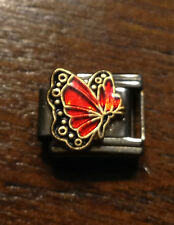 ITALIAN CHARMS JULY BIRTHSTONE BUTTERFLY D'LINQ BRAND 9MM MODULAR NEW