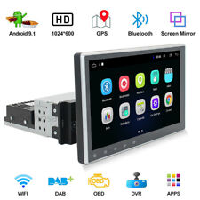 10.1 Inch 1 DIN Android 9.1 Car Player Quad Core Stereo Radio Touch Screen GPS