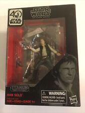 Star Wars Han Solo Black Series 3.75 40th Anniversary Die Cast Titanium Box Defe