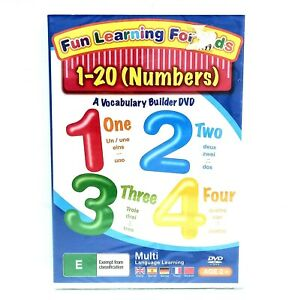 FUN LEARNING FOR KIDS Numbers 1-20 DVD A Vocabulary Builder DVD BRAND NEW 2009