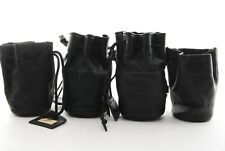 Set of Leather Lens pouch case bag Contax GCL-1 Minolta 4pcs from Japan #AX001