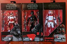 STAR WARS BLACK SERIES Clone Commander Fox Purge Trooper Shock Trooper Set