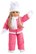 Let It Snow - Doll Clothes for 18 American Girl, Snowsuit Hat Scarf Mittens Boot
