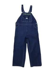Liberty BIB Carpenter Jean Overalls Size 40 x 30 Dark Blue Denim Wash