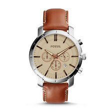 AUTHENTIC FOSSIL BQ2144SET TOWNSMAN CHRONOGRAPH SILVER BROWN MEN'S  WATCH $155