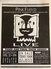 Pink Floyd Oakland 1994 Concert Handbill / Flyer