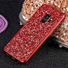 Cute Slim Lady Chrome Bling Glitter Case Cover For Samsung Galaxy Note 9 Note 8
