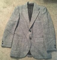 Mens Harris Tweed Ultra Sport Coat, Size M , Made In USA!!
