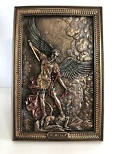 2017 Veronese St Michael Angel Standing Over A Demon - Solid Brass Picture