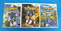 Nintendo Wii Sonic Game Lot: Sonic Unleashed, The Secret Ring, & All Star Racing
