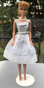 Vintage Blonde Ponytail Barbie Original Top Knot And Curl #933 Movie Date Dress