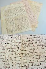 3 Briefe LANDAU 1848-52 vom Buchbinder JELITO an Sohn Adolph