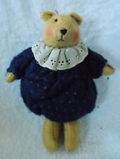 Delton Products Corp Bear Wearing Dress Christmas Ornament