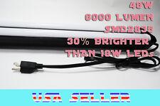 Orilis Black 4 ft Shop Light Garage Hanging Fixture 2x LED T8 6500k 48w Plugin