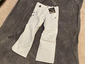 Volcom Men's Gore-Tex Snow Pant - White - Large