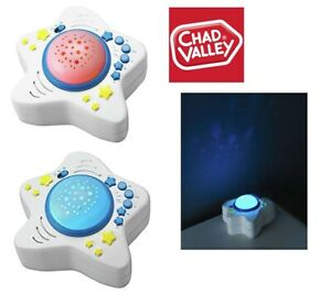 Chad Valley Baby LED Night Time Projector With Songs & Lights Brand New