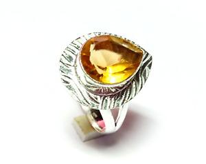 Citrine Gemstone 925 Silver Handmade Jewelry Ring G-342