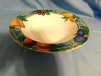 E2 -  Victoria Beale Forbidden Fruit Rim Veggie Serving Bowl