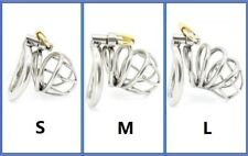 Man Male Chastity Restraint Penis Cage Curved Ring Sleeve Cuckold Slave Device