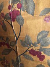 """Schumacher Duralee Glazed Cotton Chintz Fabric Remnant Florentine Large 26x36"""""""