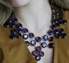 KATE SPADE CRYSTAL CONFECTION AMETHYST PURPLE BIB COLLAR NECKLACE FORMAL