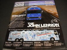 John Lennon Open House educational tour bus Nov. 13, 2010 Promo Poster Ad mint