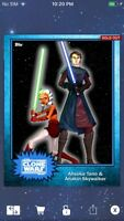 Topps Star Wars Digital Card Trader Blue Steel Ahsoka & Anakin Base 4 Variant