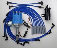 Small Cap BUICK BIG BLOCK 400 430 455 BLUE HEI Distributor + BLACK Coil + Wires