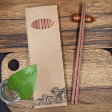 10 Pairs High Quality Classic Asian Bamboo Chopsticks Wooden Wood Dinner Gift AU