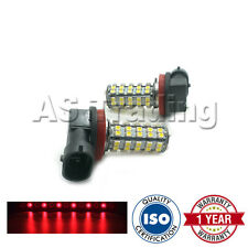2X RED H8 60 SMD LED FOG LIGHT BULBS FOR NISSAN CUBE JUKE QASHQAI MITSUBISHI