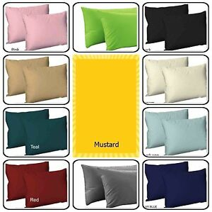 Top Quality 2X Polycotton Plain Dyed Housewife Pillowcases,Bed Room PILLOW COVER