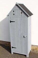 Outdoor Brighton Garden Wooden Storage Cabinet or Tool Shed In Grey