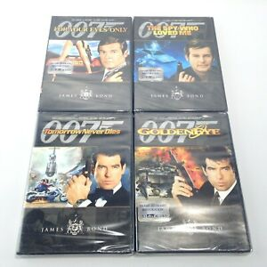 JAMES BOND 007 DVD LOT 4 Your Eyes Only SPY WHO LOVED ME Tomorrow Dies GOLDENEYE