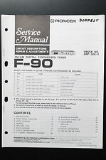 Pioneer F-90 Manuel de service / CIRCUIT Descriptions Réparation & ajustements /