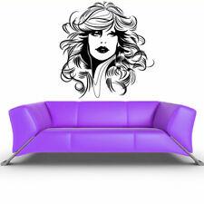Wall Decals Decor Art Mural Sticker Girl Face Hairs (Z215)